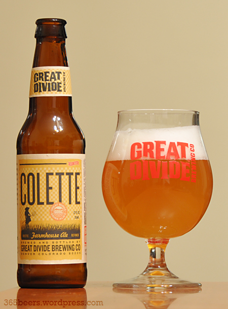 Beer 170 365 – Great Divide Colette Farmhouse Ale