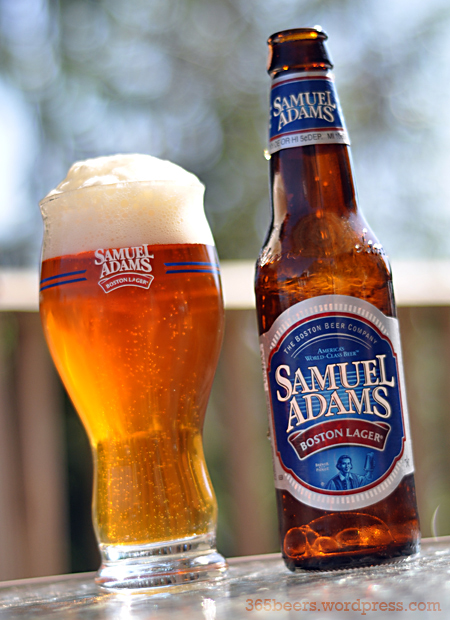 caesar salad crotons tall frosted glass sam adams boston lager
